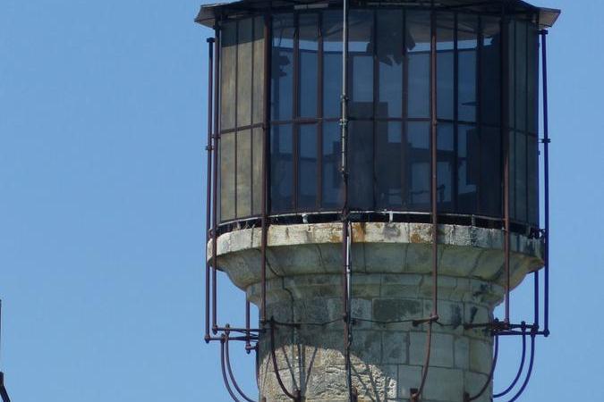 Fort Boyard 2020 - La vigie, où les éclairages sont en place (24/05/2020)