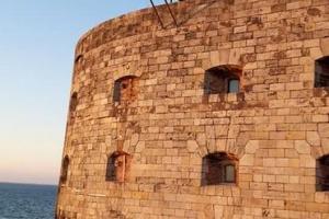 Fort Boyard 2020 - Fin de journée sur le fort, avec le sautoir du Saut de l'ange (25/05/2020)