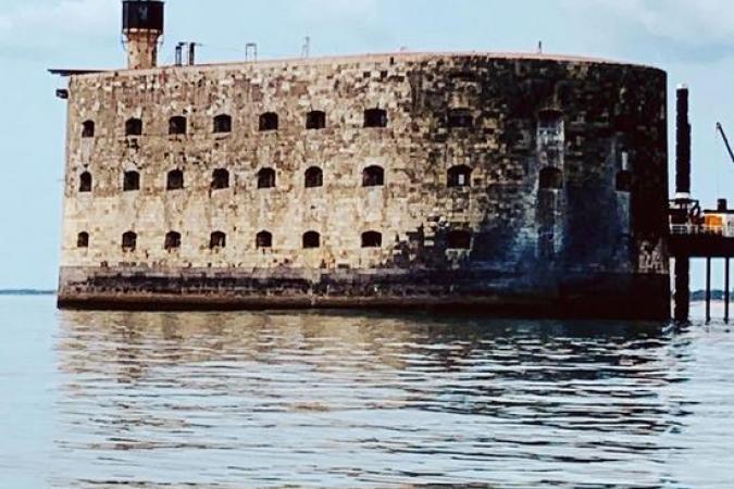 Fort Boyard 2020 - La façade nord-est durant les répétitions (10/06/2020)