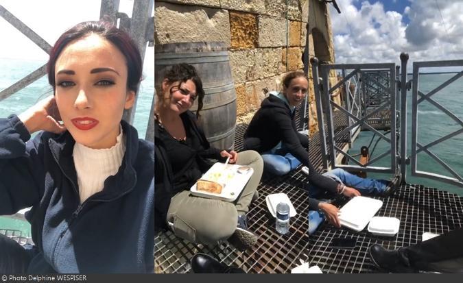 Fort Boyard 2020 - Pause déjeuner pour Delphine Wespiser (17/06/2020)