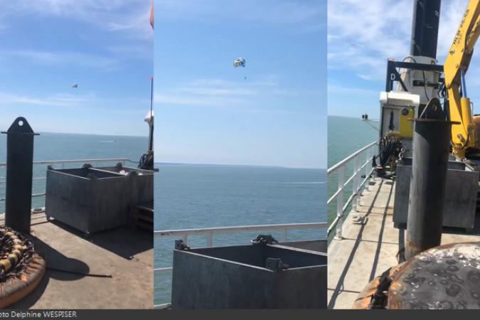 Fort Boyard 2020 - Beau temps et un parachutiste qui passe (24/06/2020)