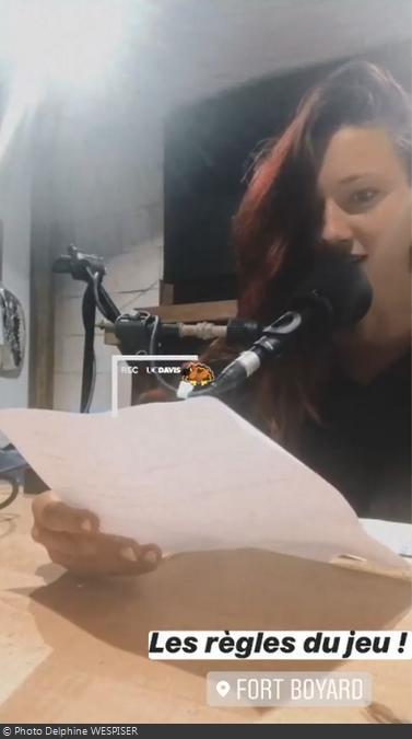 Fort Boyard 2020   Delphine enregistre la voix-off du Jugement (26/06/2020)