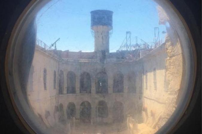 Fort Boyard 2020 - La cour intérieure depuis un hublot de la Laverie (05/09/2020)