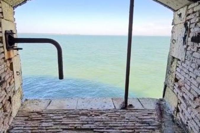 Fort Boyard 2021 - Vue sur mer depuis les bureaux de la production artistique (27/04/2021)