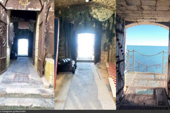 Fort Boyard 2021 - Vue de l'entrée des candidats, avec des nouveaux décors en attente (03/05/2021)