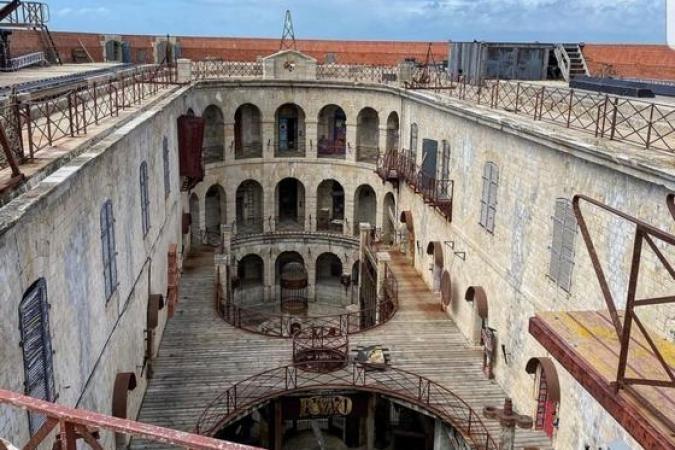Fort Boyard 2021 - La cour intérieure avant les tournages (11/05/2021)