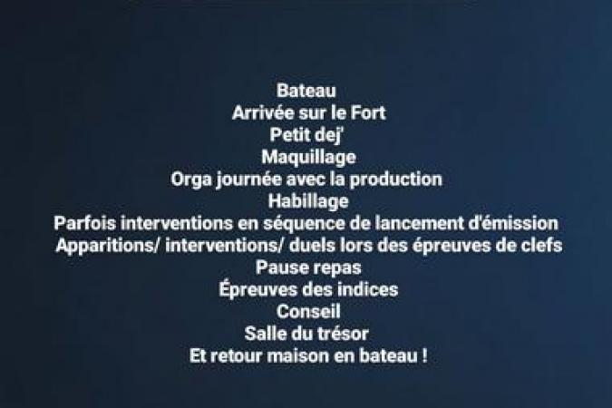 Fort Boyard 2021 - Laura Mété détaille une journée à Fort Boyard (16/05/2021)