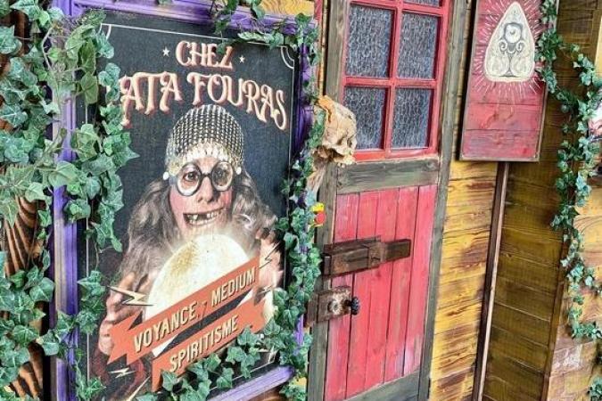 Fort Boyard 2021 - La porte de l'épreuve Chez Tata Fouras avec un nouveau bouton (18/05/2021)