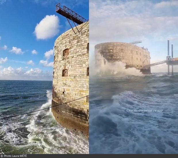 Fort Boyard 2021 - Départ du fort avec une mer agitée (21/05/2021)