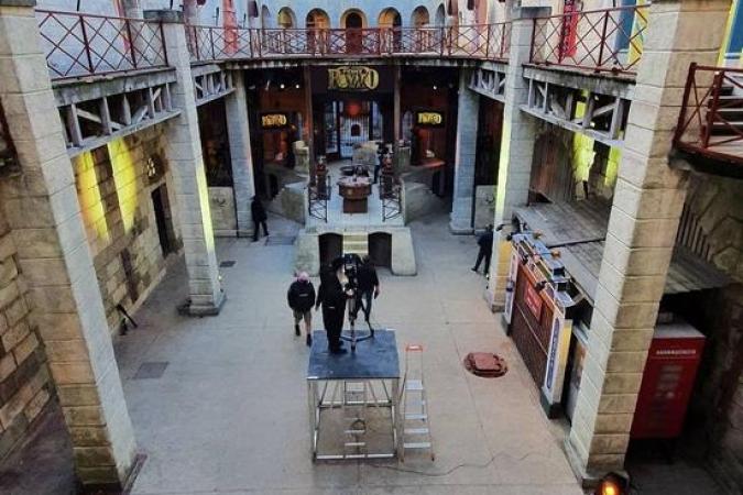 Fort Boyard 2021 - La cour intérieure pendant les tournages (21/05/2021)