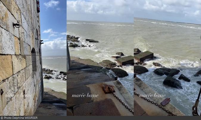 Fort Boyard 2021 - Marée basse sur le fort (25/05/2021)