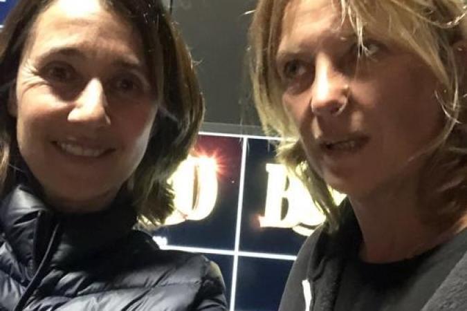 Fort Boyard 2021 - Alexia Laroche-Joubert et la réalisatrice Patricia Rimond (27/05/2021)