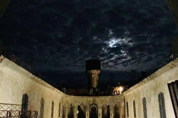 Fort Boyard 2021 - La cour intérieure en nocture hors tournage (27/05/2021)