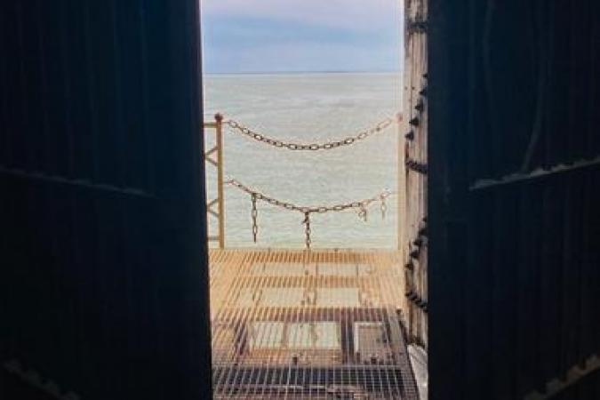Fort Boyard 2021 - Vue sur le carrelet (28/05/2021)