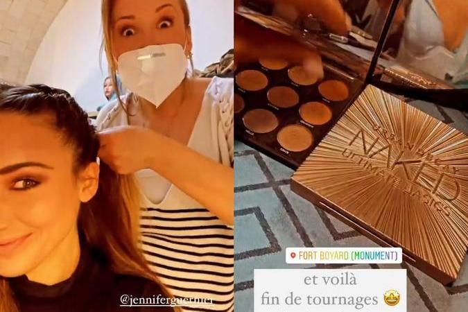 Fort Boyard 2021 - Dernier maquillage pour Delphine Wespiser (29/05/2021)