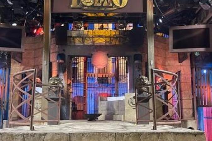 Fort Boyard 2021 - Le proscenium en nocturne (29/05/2021)