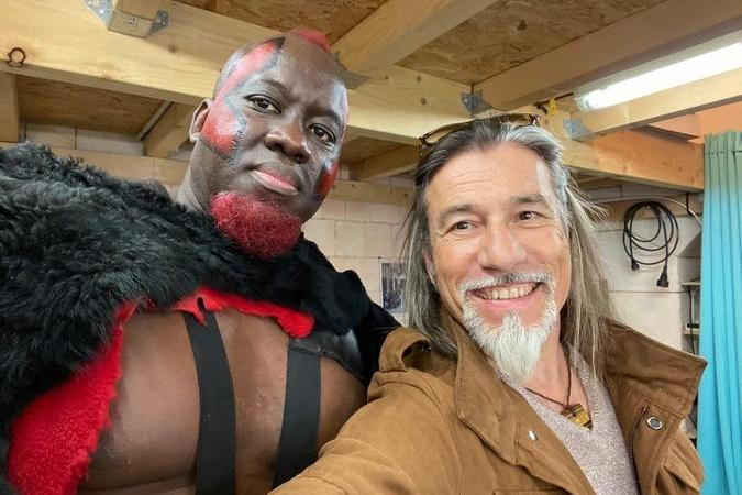 Fort Boyard 2021 - Big Boo et le magicien Serge Avril (après les tournages)