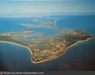 Vue aérienne de l'île de Ré