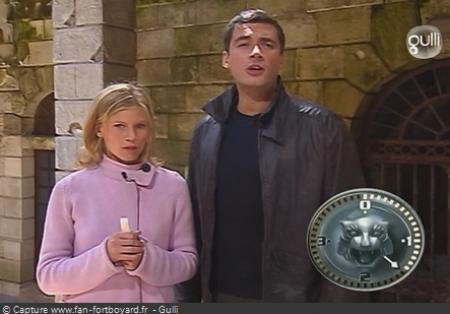 Fort Boyard - Olivier Minne et Sarah Lelouch en 2003