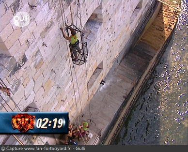 Fort Boyard - Ascension du tonneau (partie ascension)