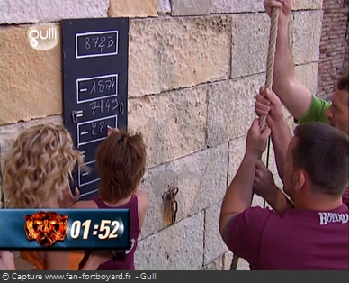 Fort Boyard - Ascension du tonneau (tableau des codes)