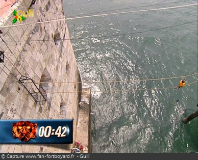 Fort Boyard - Ascension du tonneau (partie pont de singe)