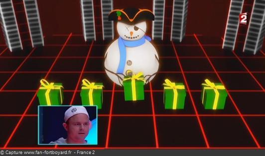 Fort Boyard - Cellule interactive (Enigmes visuelles) - Bonhomme de neige (Noël)