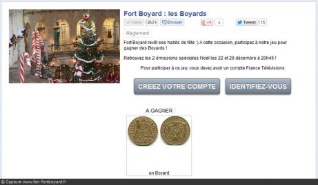 Jeu-concours Fort Boyard Noël 2012