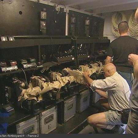 Coulisses des tournages de Fort Boyard - Stockage du matériel de captation en cellule 014 (2004)