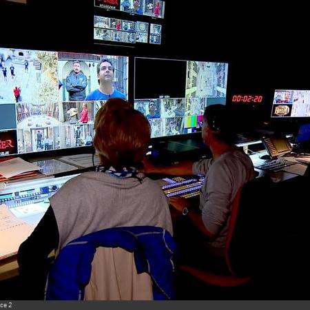 Coulisses des tournages de Fort Boyard - Régie vidéo en cellule 015 (2018)