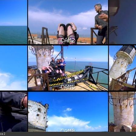 Coulisses des tournages de Fort Boyard - Le retour des 9 caméras à disposition du réalisateur, pour la Catapulte infernale (2018)