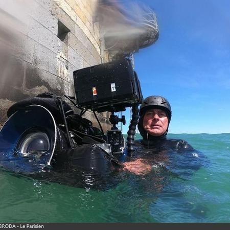 Coulisses des tournages de Fort Boyard - Des caméras sous-marines sont utilisés pour les aventures aquatiques (2019)