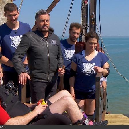 Coulisses des tournages de Fort Boyard - Test de la nouvelle aventure de la Catapulte infernale lors de la filée (2018)