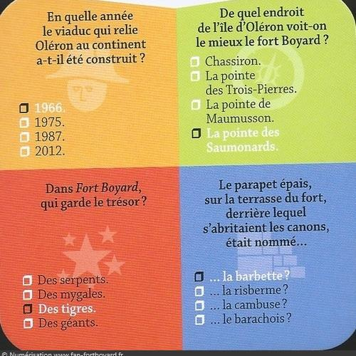 Fort Boyard Cube - Exemple de carte
