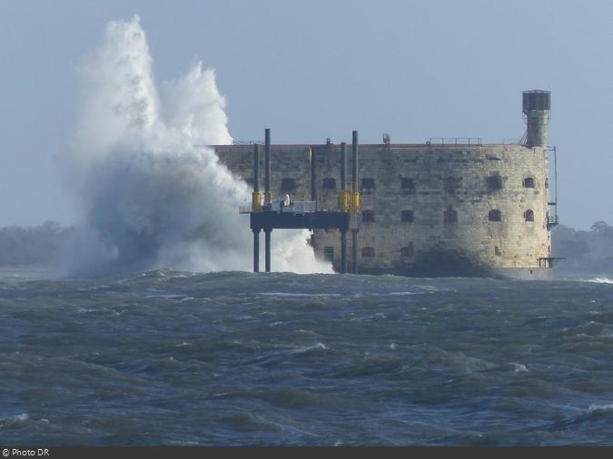 Une tempête hivervale au Fort Boyard