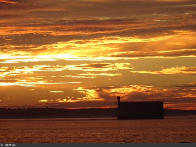 Coucher de soleil au Fort Boyard