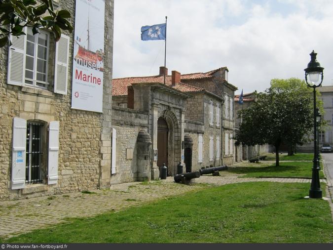 La façade du Musée de la Marine de Rochefort