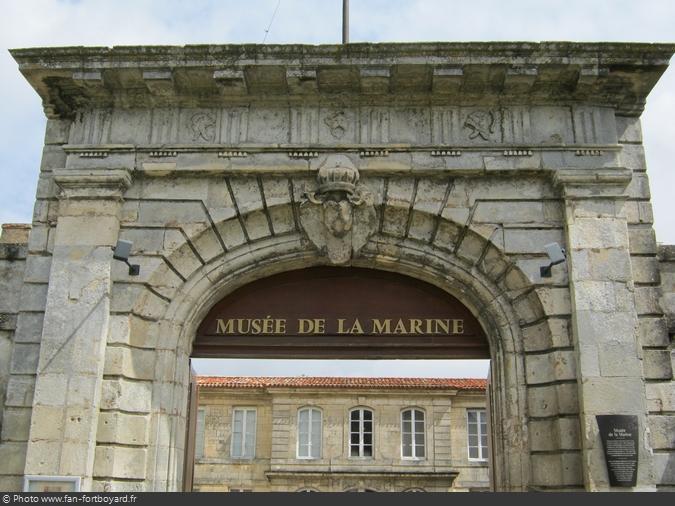 L'entrée du Musée de la Marine de Rochefort