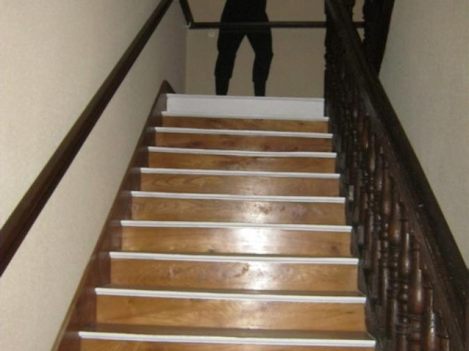 L'escalier pour aller au 1er étage...