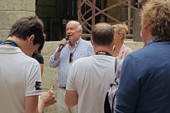 Conférence de presse au Fort Boyard pour parler du patrimoine (02/07/2019)