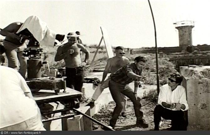 Photo du tournage du film Les Aventuriers avec Alain DELON