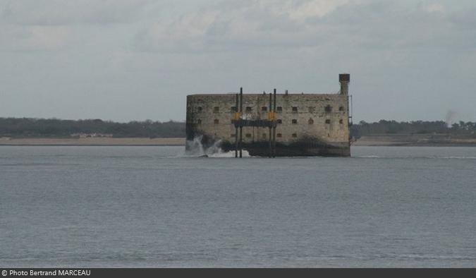 Le Fort Boyard en hiver depuis l'île d'Oléron (09/01/2011)