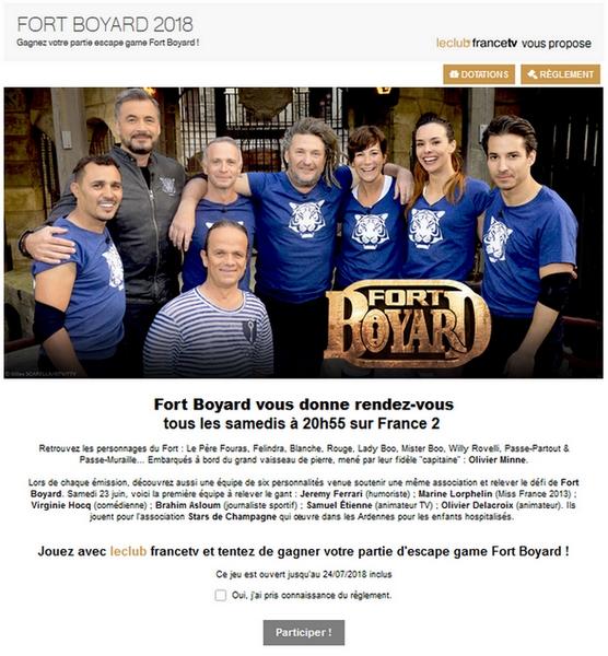 Fort Boyard 2018 - Jeu Le Club FTV