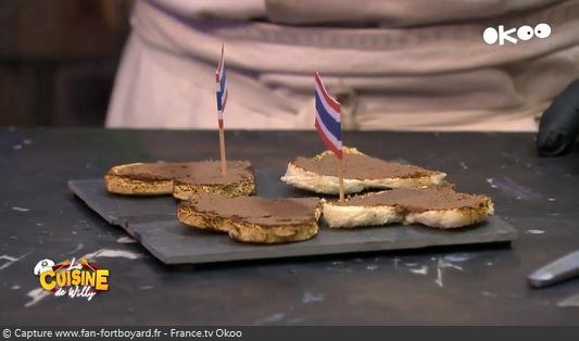 La Cuisine de Willy 2020-07 - Dayana et Matheo (la dégustation : Pâte de crevettes sur une tartine)