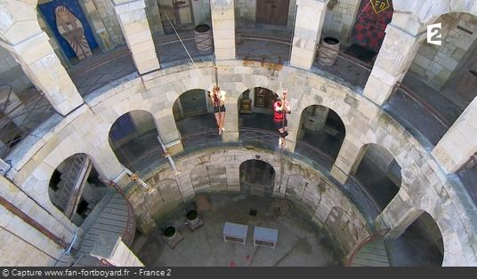 Fort Boyard - Mâts suspendus