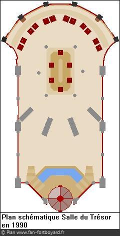 Plan schématique de la Salle du Trésor en 1990