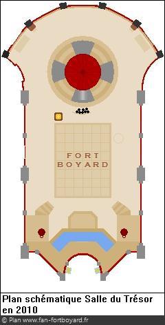 Plan schématique de la Salle du Trésor en 2010