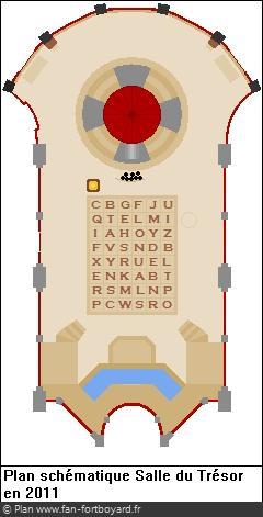 Plan schématique de la Salle du Trésor en 2011