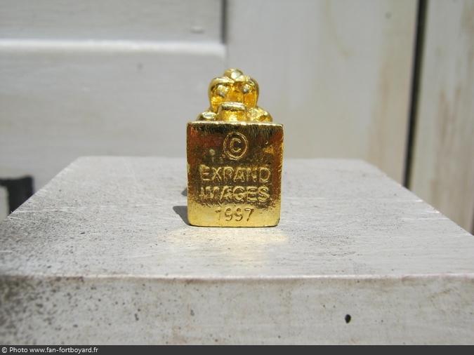Épiphanie - Fève tête de tigre dorée de Fort Boyard (1997)