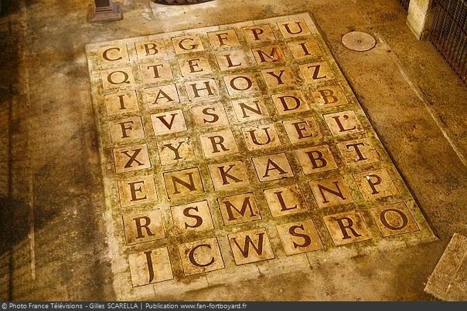 L'alphabet géant de la Salle du Trésor de Fort Boyard (depuis 1991)